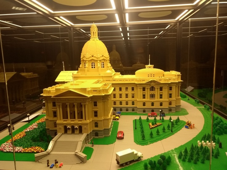 The Visitors' Centre has this lego model