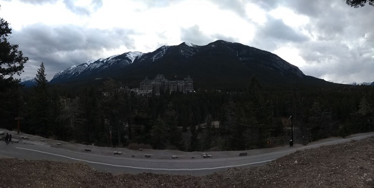 Fairmont Springs hotel panorama