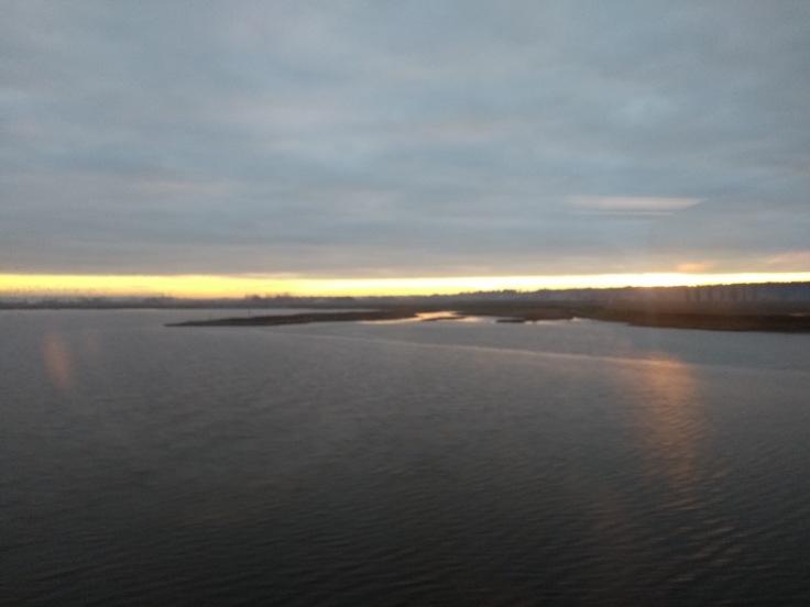 Sun rise in Washington