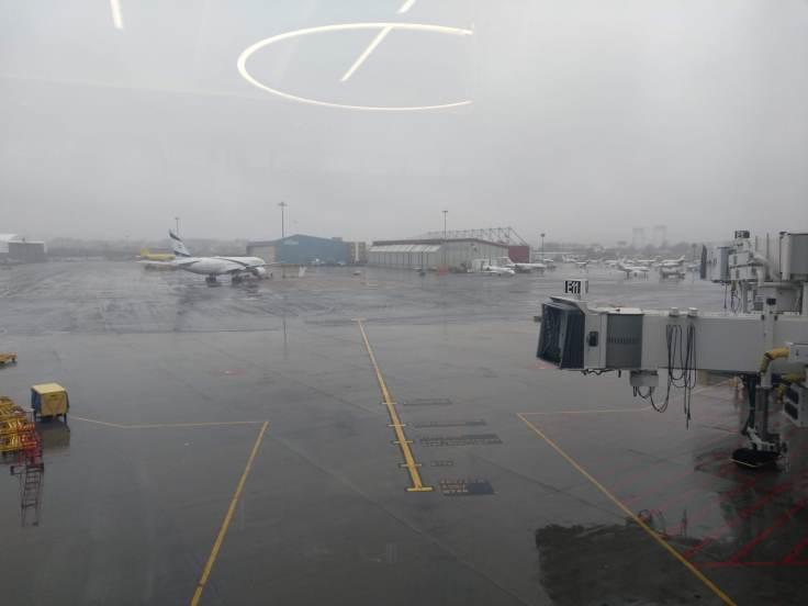 Boston Logan airport - dreary outside