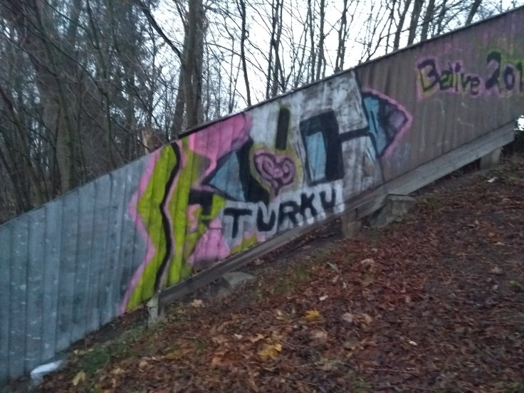 Graffito with name of the city, Turku