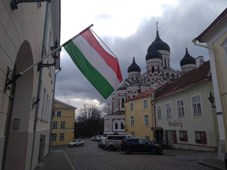 Hungarian embassy and Alexander Nevsky Cathedral