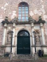 St Peter's Church, gargoyles outside