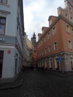 Riga's cobbled streets
