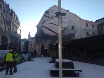 Mural and Riga street