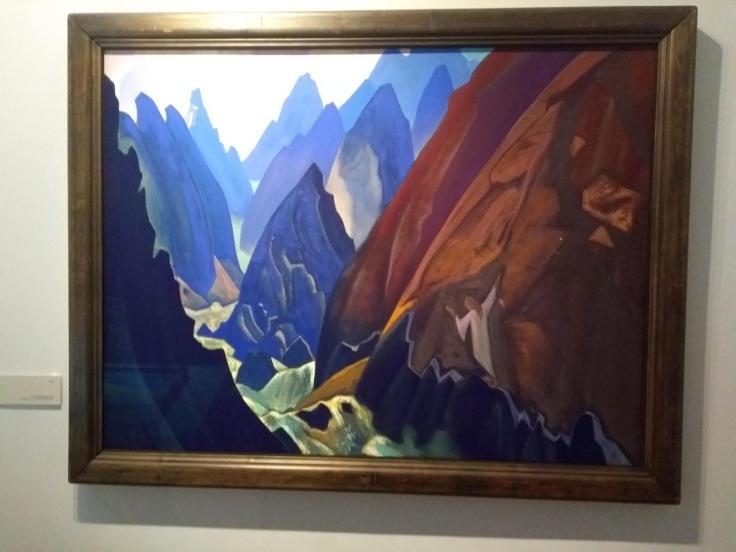 Tibetan mountains, Latvian artist