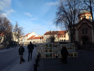Art for sale, outside the museum