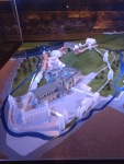 Diorama of upper and lower castles