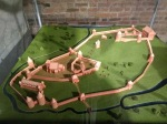 Diorama of upper and lower castles (early)