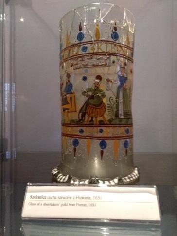 Shoemaker's guild glass