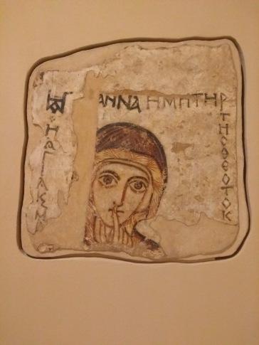Nubian art - finger to lips