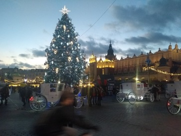 Krakow square and christmas tree