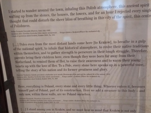 Impressions of Krakow in text