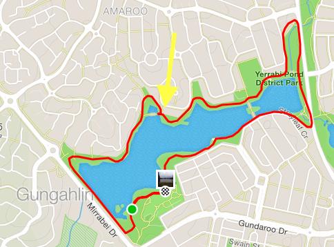 Gungahlin parkrun course