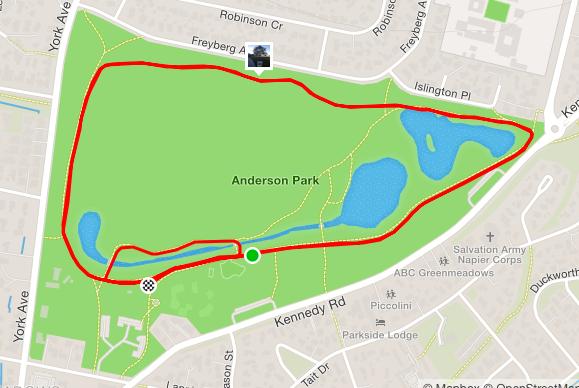 Anderson parkrun route