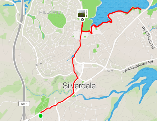 Millwater parkrun route