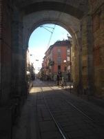 Milan through a gateway