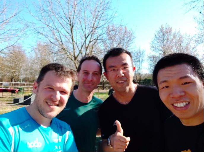 Running friends in Padua, post-run