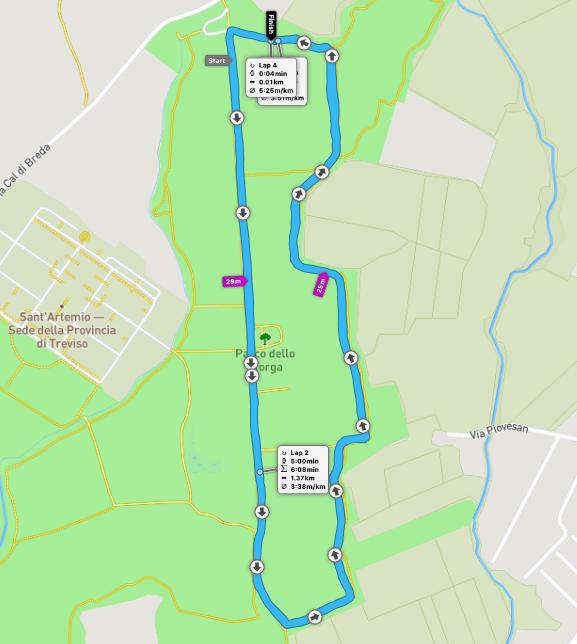 Treviso parkrun route