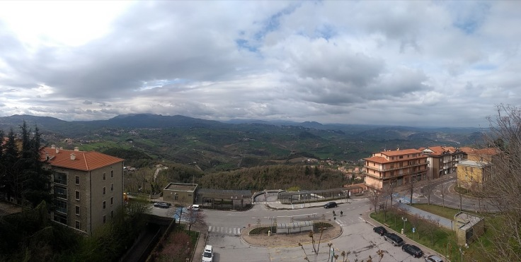 Panoramic view from the bus station in San Marino