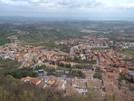 Looking down on San Marino