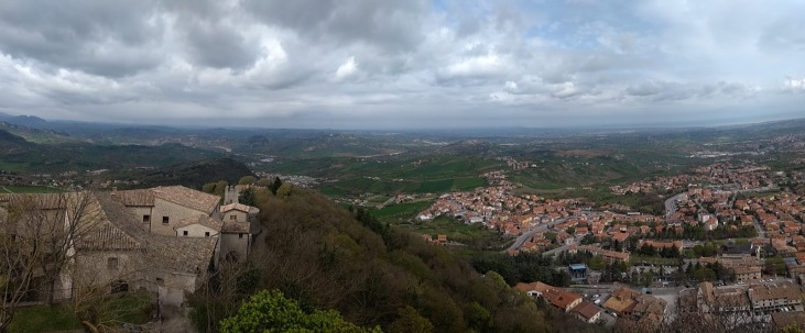Panoramic view from San Marino
