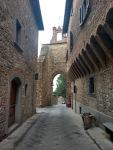 Tight alley in Barberino's medieval village centre