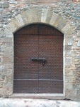 Medieval studded door, Barberino