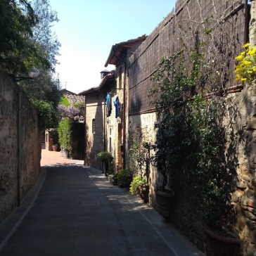 Cute narrow street, Vinci