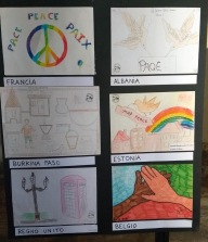 Paintings on theme of peace by children from around the world