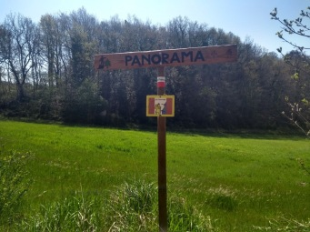 'Panorama' sign, in case you move too quickly and miss the view