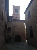 Brick buildings and bell tower, Gambassi Terme