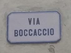 Via Boccaccio sign