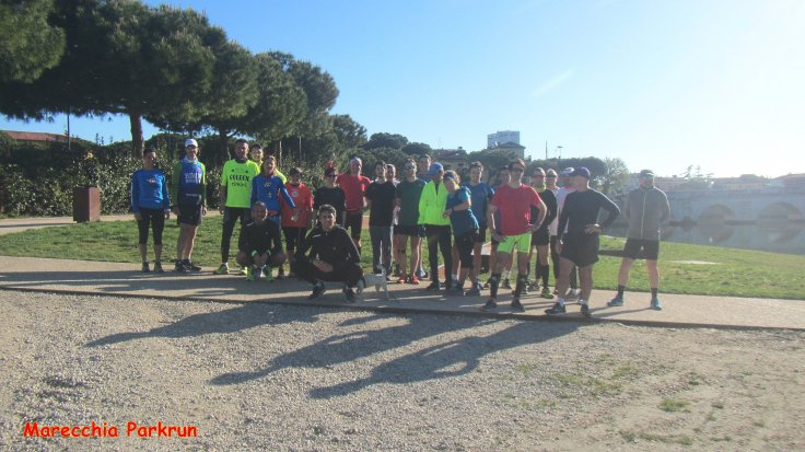 Marecchia pre-run group photo