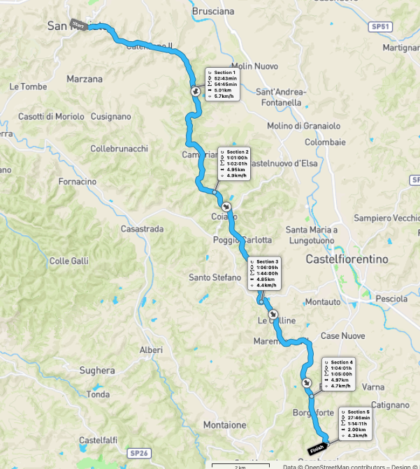 VFW Stage 30 route map