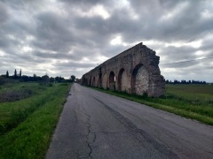 One end of the Medici aqueduct, crumbled away from neglect