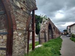 A broken arch, despite the metal support