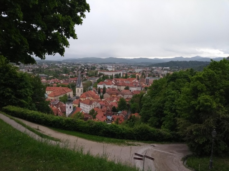 View over Ljubljana from the castle