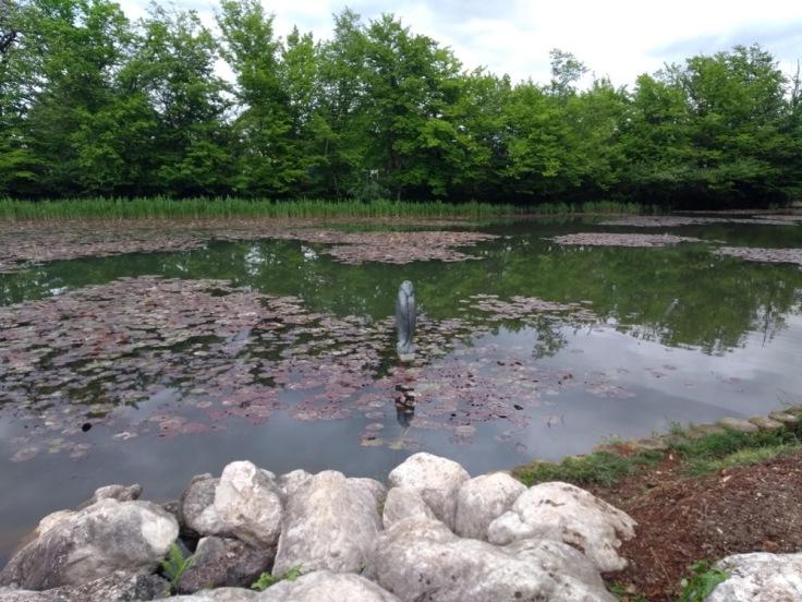 """Monument """"Ribe"""", the fish, Tivoli Park"""