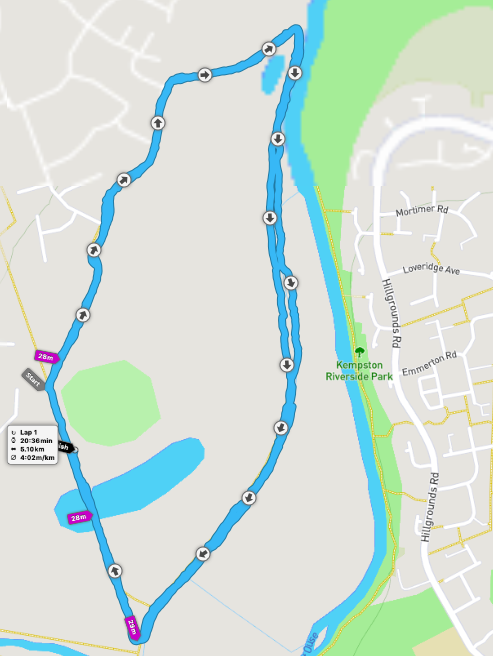 Great Denham parkrun route