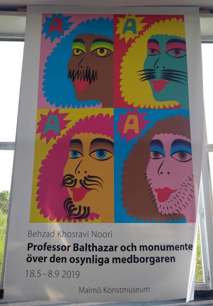 Professor Balthazar exhibition poster