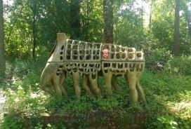 Sculpture in a park