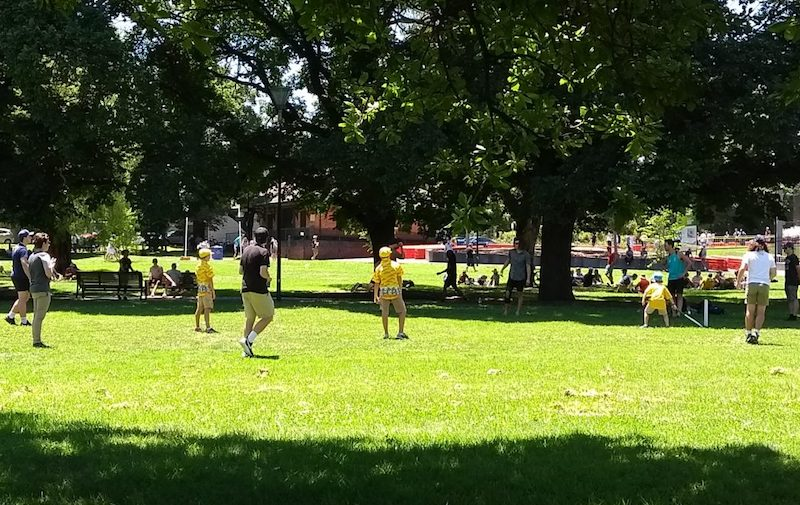 Pick-up game outside the MCG