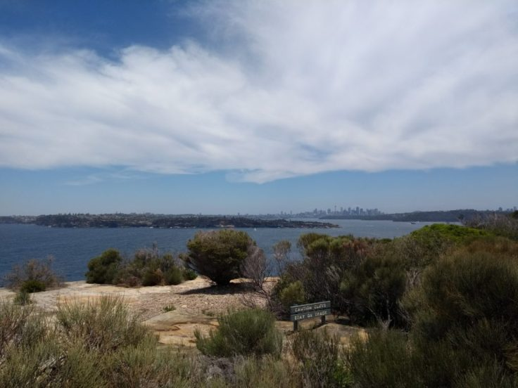 Sydney looks distant – not so much in person.