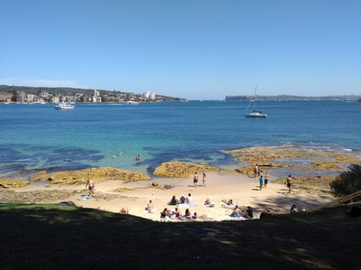 Delwood beach – this one is small and quiet compared to Manly