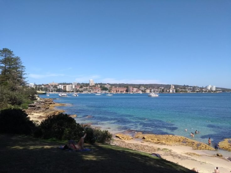 Looking over Manly.