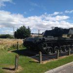 Tank outside museum