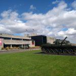 Grass, tank, museum