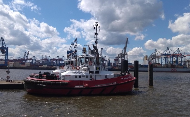 Tugboat on the river