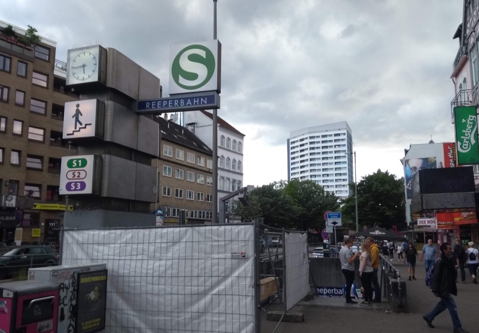 Reeperbahn, and its S-Bahn station